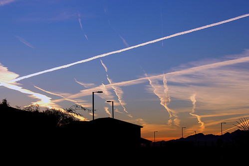 buckeye arizona az contrail sunrise sky