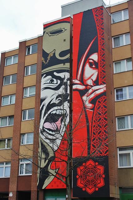 Shepard Fairey + DFace_4347 Bülowstrasse Berlin