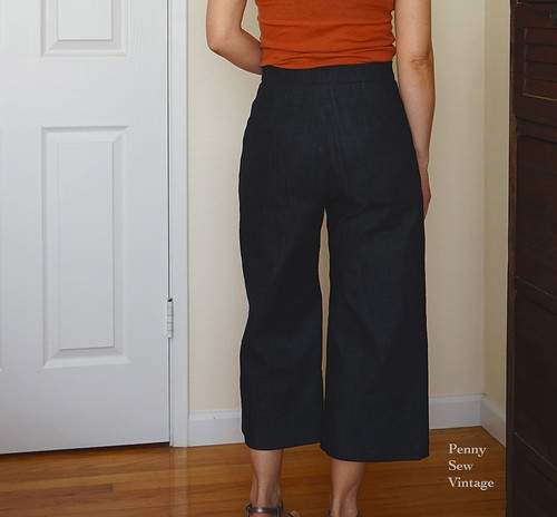 wide leg cropped pants - m7445 | by pennysewvintage