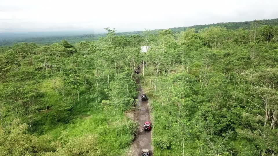 Jeep Convoy at Merapi