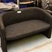 2 seater charcoal tub sofa E195