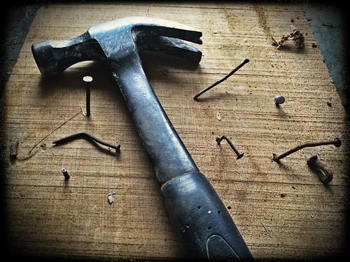 Black Claw Hammer on Brown Wooden Plank - Credit to http://homedust.com/ | by Homedust