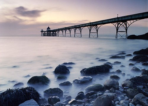 clevedon clevedonpier pier somerset england water sea longexposure sunset seascape rocks dreamy tranquil ethereal peaceful evening bronica bronicaetrsi etrsi