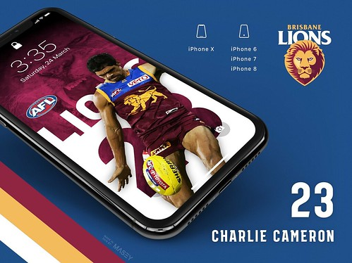 Charlie Cameron (Brisbane Lions) iPhone Wallpaper