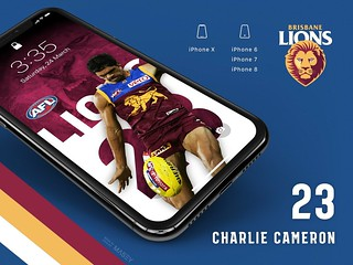 #23 Charlie Cameron (Brisbane Lions) iPhone Wallpapers | by Rob Masefield (masey.co)