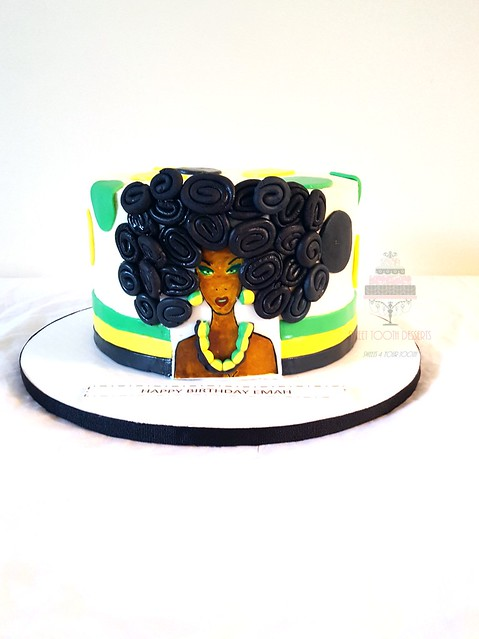 Enjoyable Jamaican Queen Birthday Cake Late Post From 2 Weeks A Go Flickr Personalised Birthday Cards Paralily Jamesorg