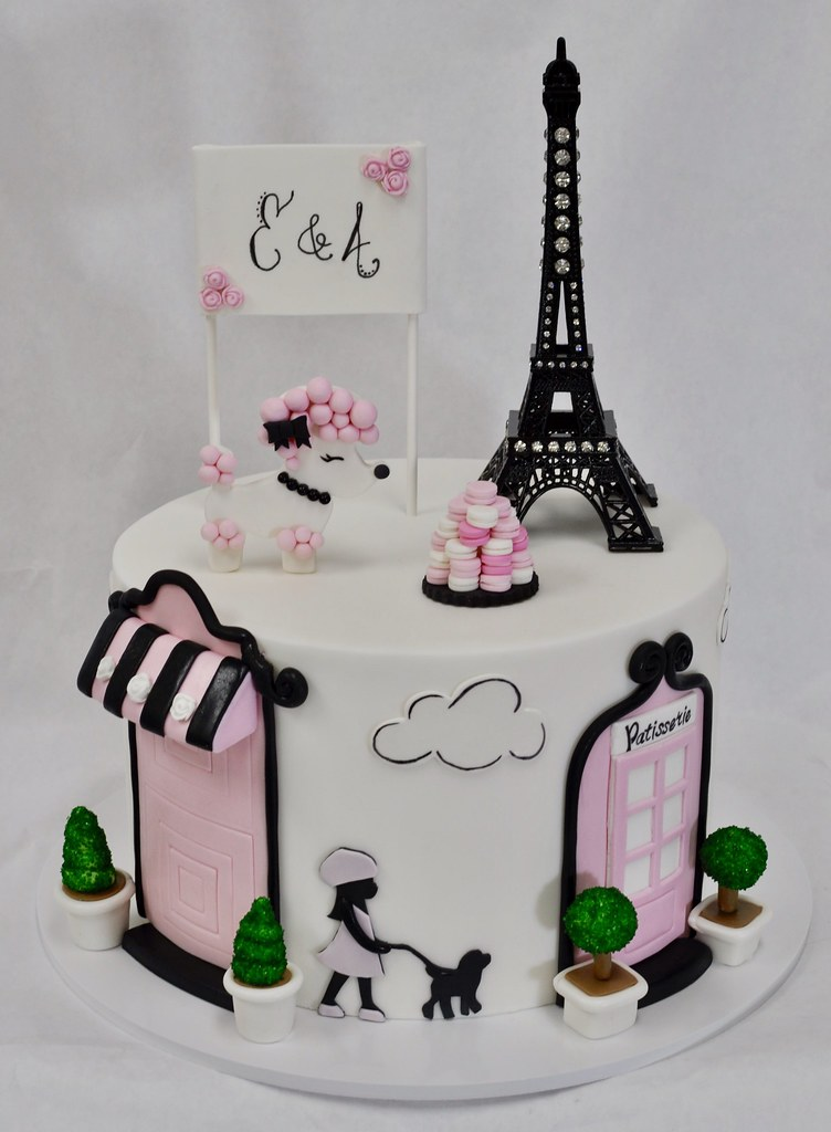 Magnificent Paris Themed Birthday Cake Jenny Wenny Flickr Funny Birthday Cards Online Alyptdamsfinfo