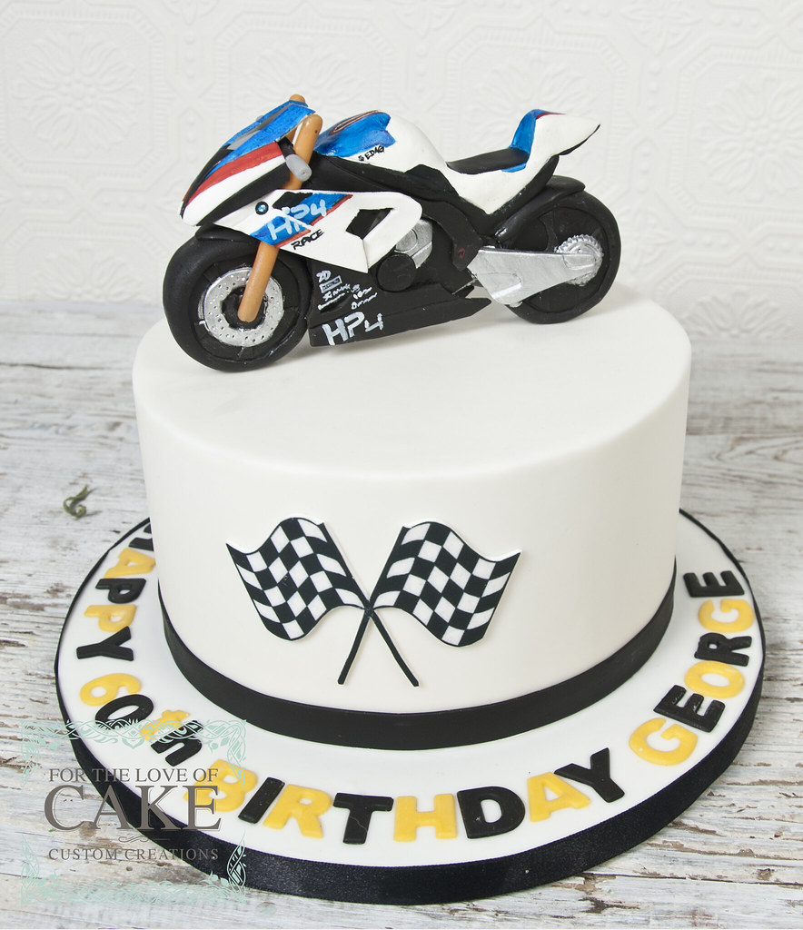 Astonishing Bc4718 Custom Motorcycle Birthday Cake Toronto For The Love Of Personalised Birthday Cards Epsylily Jamesorg