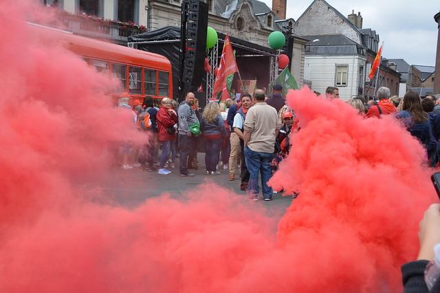 Namur le 25/06/2018 Manifestation contre la réforme des A.P.E