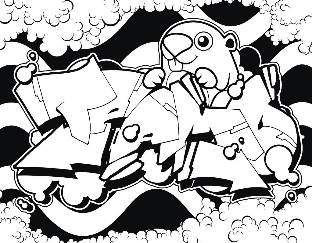 Te Amo Graffiti Coloring Page This Is The Final Rendering