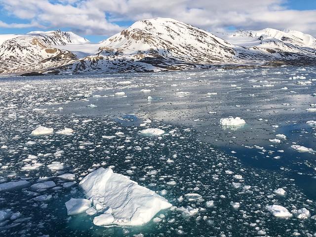 Témpanos de hielo en Svalbard
