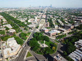 Logan Square - the square from above | by Steven Vance