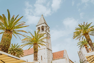 Tower of cathedral in Trogir | by wuestenigel