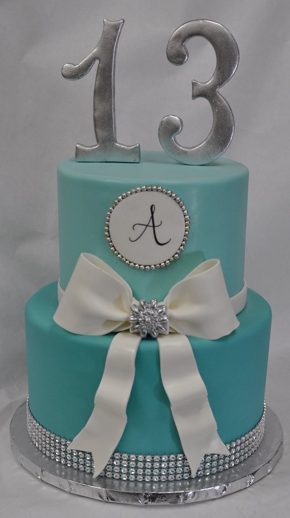 Fabulous Tiffany Blue Birthday Cake Jenny Wenny Flickr Funny Birthday Cards Online Fluifree Goldxyz