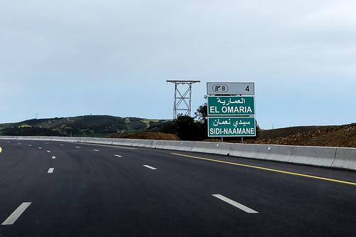 algérie algeria medea médéa autoroute rn1 chifaberrouaghia nordsud شمالجنوب الطريقالسريع طو1 الطريقالسيار panneau لافتة المدية