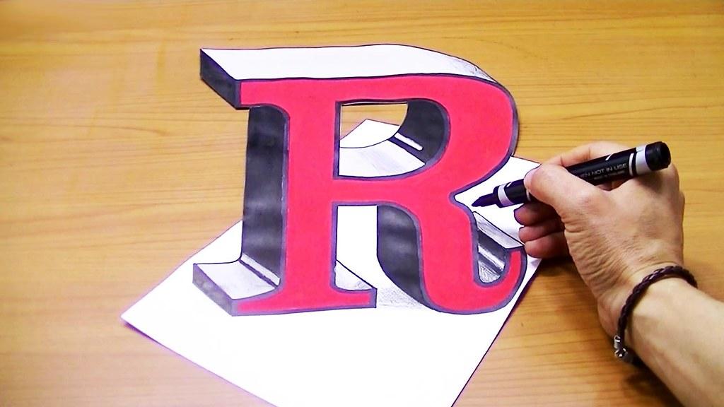 Draw Lettre R 3d متعة الرسم Flickr