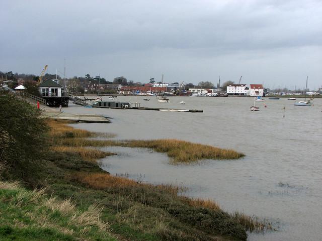 Woodbridge and the river Deben