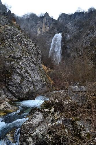 montenegro mountain spring komarnica river canyon waterfall