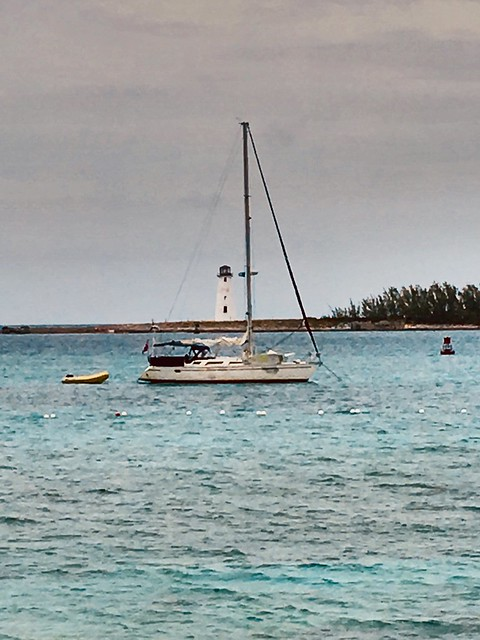 Nassau Hog Island Lighthouse. Built in 1817 it is the oldest lighthouse in the Bahamas. Sadly, it is very deteriorated