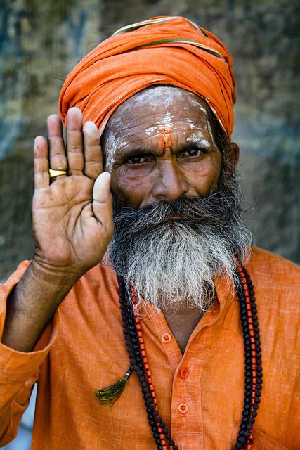 Portrait Of A Sadhu, Varanasi