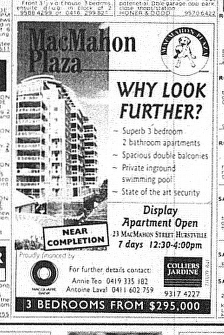 McMahon Plaza Hurstville June 11 1998 SMH 33RE