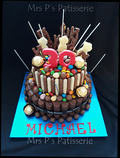 Michaels 30th Birthday Chocolate Explosion Cake Chocolate