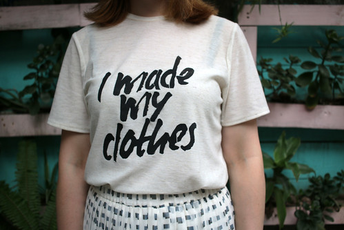Fashion Revolution Inspired Seamwork Jane T-Shirt | by English Girl at Home