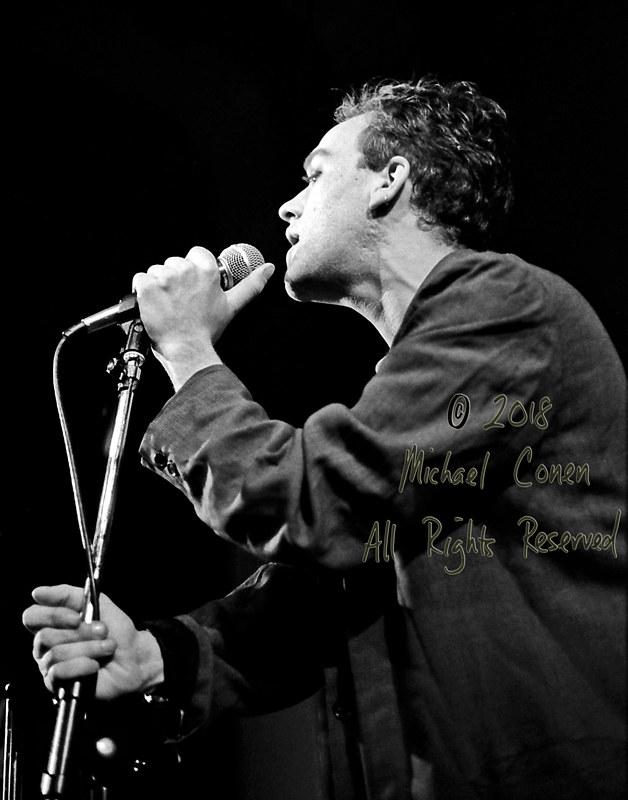 Michael Conen - [PROOF] Michael Stipe closeup LG [The Golden Palominos - I Beam, San Francisco CA 3-24-86]
