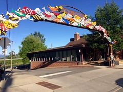 License plate fish arch (Sandpoint, ID)