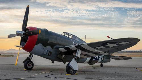 4225254 p47g15cu planesoffame curtiss republic p47gthunderbolt sunrise dawn california chino fightercollection