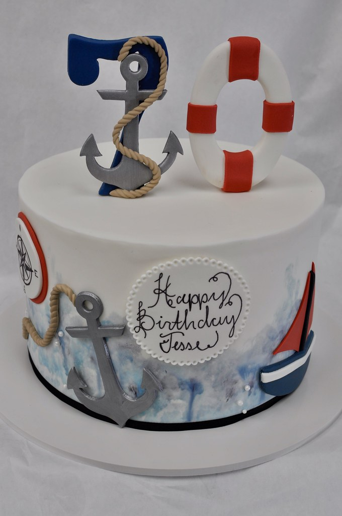 Cool Nautical Birthday Cake Jenny Wenny Flickr Personalised Birthday Cards Veneteletsinfo