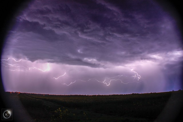 Lightning from Oxfordshire 21st/22nd April 2018
