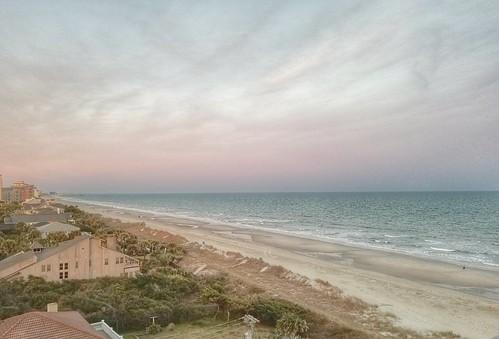 myrtlebeach beach golf sunrise