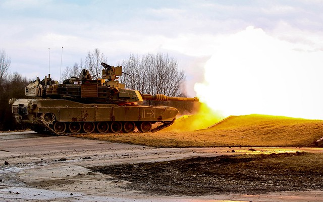 M1 Abrams live fire exercise