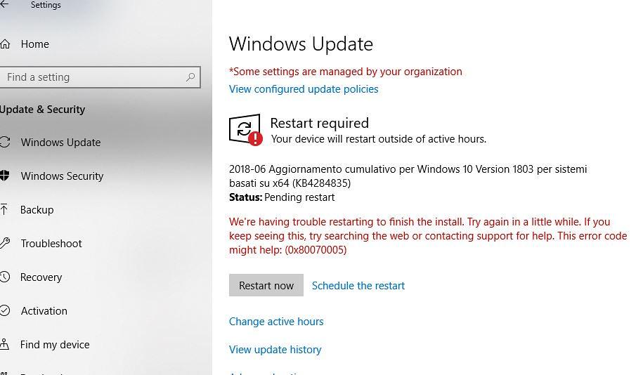 My Windows 10 Update Failed Install ••▷ SFB