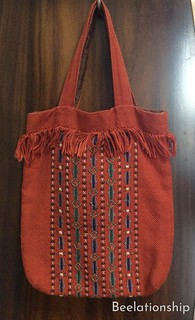 African Motif Fringed Tote Bag 002 | by Beelationship Embroidery Studio