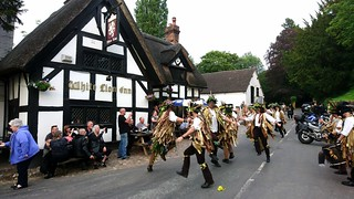 Domesday Morris Dancing at the White Lion, Barthomley, Cheshire 8