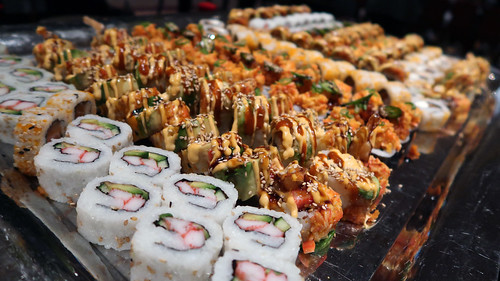 Platter of assorted sushi rolls | by Parkzer