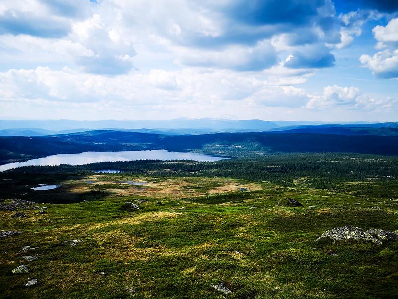 21-Utsikt mot Sørkje og Gaustatoppen fra Senhovd