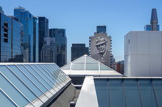 Leonard Cohen - downtown Montreal