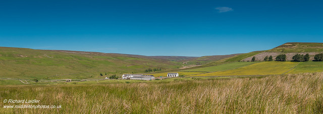 Middle End Farm, Great Eggleshope Panorama June 2018