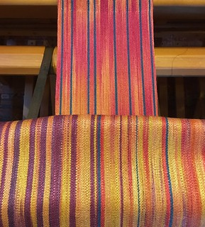 Muga silk band on the loom | by lambspin