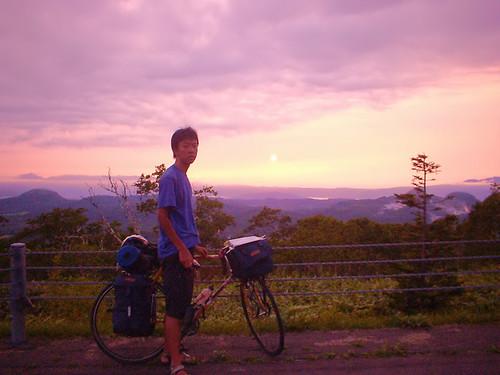 road sunset bicycle geotagged hokkaido biking musashicyclo 武蔵大学サイクリング部 scycling 2003hkushiro cycloallsummer rdoudou52 cyclememories cyclememories1a cycloallrun takucyclememories geo:lat=43573675 geo:lon=144501801 2003hkushiro2 takucyclememories2 cyclomembers cycloallrun2 自転者