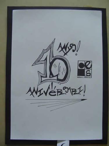 dibujo décimo aniversario