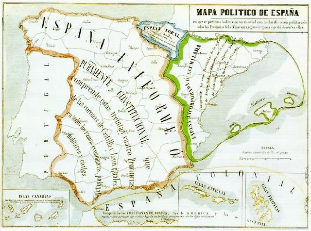 Mapa politic de Catalunya 1854