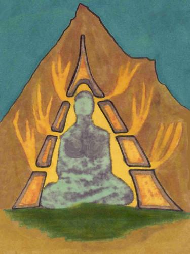 volcanic buddha   by omnos