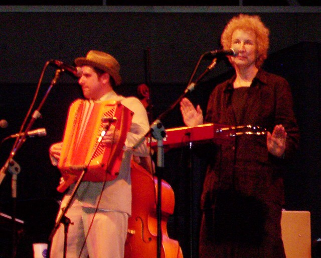 Margaret Atwood on theremin 2 | This is a picture of Margare