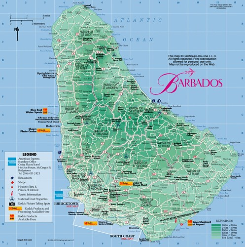 Map - Barbados | Teresa \