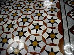Detail of floor tiles