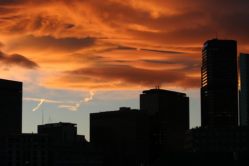 Denver Skyline at Sunset | by dagpeak